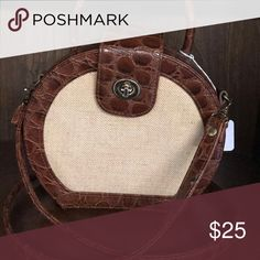 Perfect little summer bag Cream with cocoa trim Bags Crossbody Bags