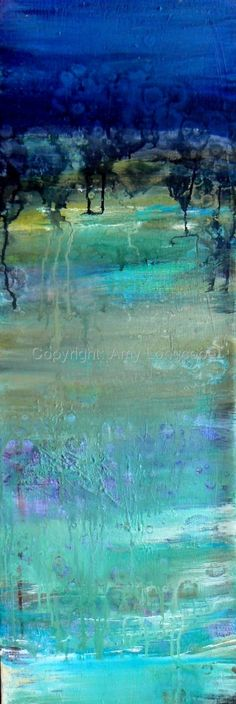 "Contemporary Painting - ""midnight "" (Original Art from Amy Longcope)"