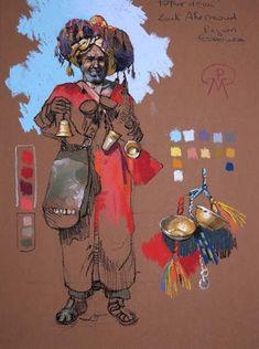 Etudes 2 - patrick-martin Patrick Martin, Afghan Girl, Toned Paper, Urban Sketching, Gouache Painting, Colored Paper, Art Plastique, World Cultures, Ancient Art