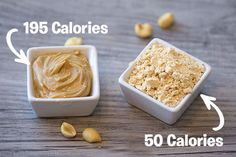 Food find! Powdered peanut butter has at least 50% fewer calories & 80% less fat than traditional PB... Try it!