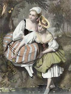 French Peasants Girls
