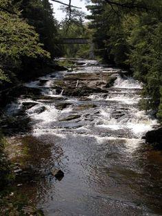 Falls River Falls, Baraga County, downtown L'Anse, Michigan
