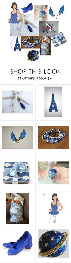 """The Jaws of Summer"" by inspiredbyten ❤ liked on Polyvore featuring Lazuli and vintage"