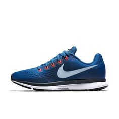 Nike Air Zoom Pegasus 34 Men's Running Shoe Size Nike Air Zoom Pegasus, Tenis Nike Air, Sneakers Nike, Running Shoes For Men, Blue, Peak Performance, Size 14, Bacon, Competition