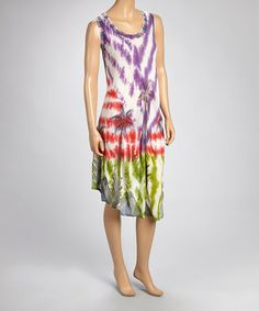 Another great find on #zulily! Fuchsia & Purple Palm Tree Dress #zulilyfinds