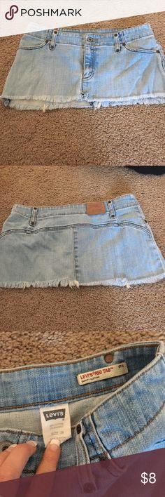 Levi's jean mini skirt size 28 Levi's red tab jean mini skirt. Good condition, short. Size 28 Levi's Skirts Mini