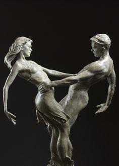 Counterbalance by Karl Jensen at Quent Cordair Fine Art - The Finest in Romantic Realism Sculpture Garden, Michelangelo, Carving, Romantic, Statue, Fine Art, Artist, Sculpture, Wood Carvings