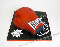 Boxing glove cake, via Flickr.