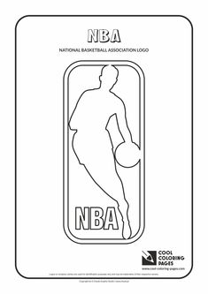 cool coloring pages nba logo coloring pages national basketball association coloring page