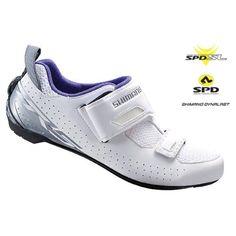 Shimano 2017 Women's Performance Triathlon Cycling Shoes - SH-TR5W (White - 36.0)