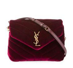 3aa11bc7db Saint Laurent Loulou Monogram YSL Toy Quilted Velvet Shoulder Bag