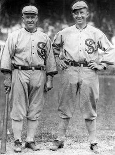 Kid Gleason and Eddie Collins 1922 -- Look at those uniforms