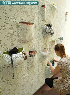 DIY:马赛克物品盒和墙壁收纳袋-创意生活,手工制作╭★肉丁网