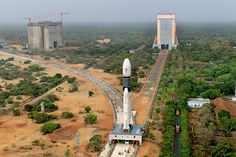 Panoramic View of GSLV-Mk III-D1 being moved to second launch pad