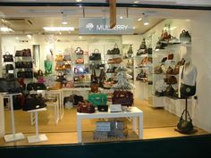 Mulberry on display in our Guildford Handbag store