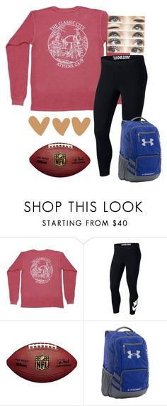 """""""game today @itsallison-m"""" by mallory-d ❤ liked on Polyvore featuring NIKE and Under Armour"""