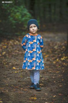 theblogbook.eu | Kindermode | Raglankleid aus nightfox lillestoff