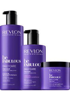 Revlon Professional be Fabulous Daily Care Fine Hair Family Salon Packshots.