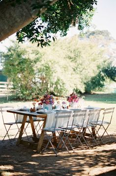 outdoor reception for spring!