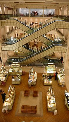 """A wonderful (if pricey) place to shop in Paris. """"Le Bon Marche"""" which means: The good walk. Indeed! On the Left Bank"""