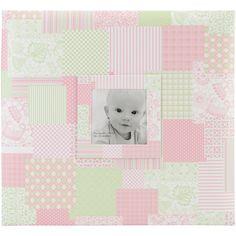 """Baby Post Bound Scrapbook w/Window 12""""X12""""-Pink"""