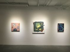 """THIS FROM THERE (l-r) Ashely Peifer """"Crayon Cookie"""", Carolina Brunet """"Aroma a Tierra"""", Mark Rode """"Emulation II"""""""