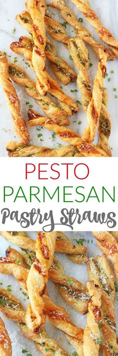 Pesto Parmesan Pastry Straws make a super easy snack or party appetizer for the festive season!These Pesto Parmesan Pastry Straws make a super easy snack or party appetizer for the festive season! Easy Meals For Kids, Easy Snacks, Kids Meals, Healthy Snacks, Healthy Kids, Snacks Ideas, Snacks Für Party, Appetizers For Party, Appetizer Recipes