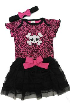 Punk Baby Clothes | Skull Baby Outfit | Baby Moo's Clothes UK