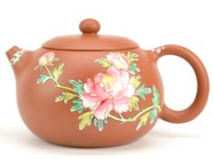 Painted Pretty Lady XiShi Yixing Clay Teapot