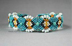Micro macrame bracelet by Sherri Stokey.