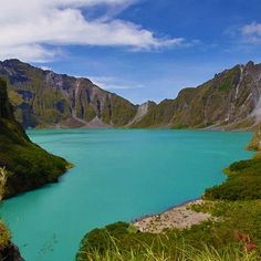 Mount Pinatubo in Philippines