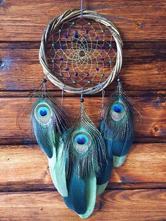 Large dream catcher gift for him Traumfanger Willow Dream catcher Green dreamcatcher Wall hanging Wall Decor Native american - Dream catcher Willow Dreamcatcher Boho dreamcatcher Green dreamcatcher Peacock dreamcatcher Wall ha - Grand Dream Catcher, Dream Catcher Decor, Beautiful Dream Catchers, Large Dream Catcher, Dream Catcher Boho, Making Dream Catchers, Black Dream Catcher, Diy Tumblr, Dream Catcher Native American