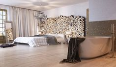 Log wall - Chalets in Grindelwald, Switzerland Style At Home, Interior Architecture, Interior And Exterior, Chinese Architecture, Architecture Details, Chalet Chic, Log Wall, Design Case, Art Design