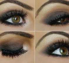 Bridal make up: Smokey Taupe Eyeshadow Tutorial. Taupe Eyeshadow, Best Eyeshadow, Smokey Eyeshadow, Summer Eyeshadow, Glitter Eyeshadow, Love Makeup, Makeup Tips, Makeup Looks, Pretty Makeup
