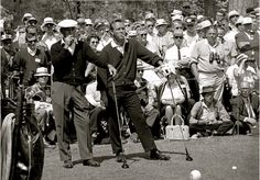 """I play golf with friends sometimes, but there are never friendly games."" - Ben Hogan (in honor of the Masters)."