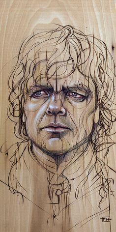 Tyrion--by Fay Helfner.   I didn't know whether to put this Game of Thrones drawing here, or in famous faces.