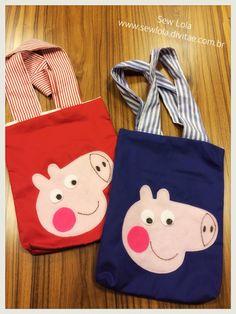 Sacolinhas de tecido para lembrancinha de festa infantil já prontas para serem despachadas! #sewlola