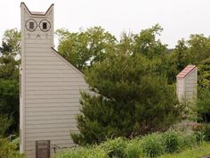 "Cat-Shaped Lodge - Tashirojima, Japan: Manga artist Tetsuya Chiba designed this cat-shaped building on Tashirojima, also known as ""Cat Island"". The island earned its nickname for its large cat population, which greatly outnumbers its human population of approximately 100."