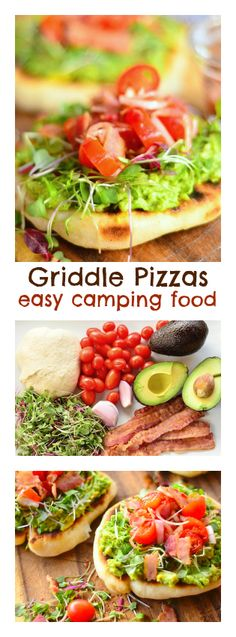 Griddle Pizzas -- easy camping food! ReluctantEntertainer #camping #food