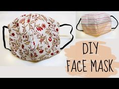 face mask sewing pattern DIY: How to sew Face Mask Easy Face Masks, Homemade Face Masks, Diy Face Mask, Easy Knitting Projects, Sewing Projects, Craft Projects, Sewing Patterns Free, Free Sewing, Free Pattern