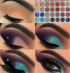 Gorgeous Makeup: Tips and Tricks With Eye Makeup and Eyeshadow – Makeup Design Ideas Makeup Eye Looks, Eye Makeup Steps, Skin Makeup, Eyeshadow Makeup, Teal Eye Makeup, Eyeliner, Makeup Light, Makeup Brushes, Green Makeup