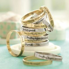 Gorgeous little quote rings!!