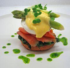 Eggs Florentine With Wild Salmon & Asparagus