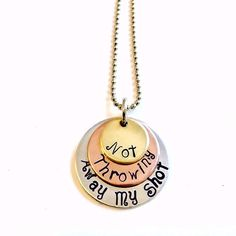 """Now available: Hamilton inspired """"My Shot"""" necklace"""