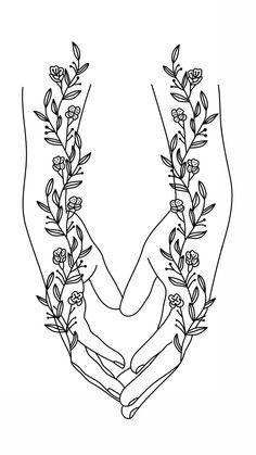 line art nature , Character Design Line Art Flowers, Flower Art, Art Sketches, Art Drawings, Tattoo Drawings, Tattoos, Line Drawing, Drawing Hands, Art Mural