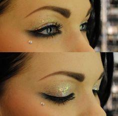 Love the under eye/cheekbone piercing Pretty Makeup, Love Makeup, Makeup Tips, Makeup Looks, Jewel Makeup, Perfect Makeup, Makeup Ideas, Glitter Eye Makeup, Prom Makeup