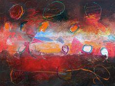 """""""Suncycle 2"""", Acrylic on Canvas, 30 x 40 in."""