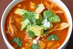 Mexican Lime With Chicken or Turkey Tortilla Soup, 86 cal.