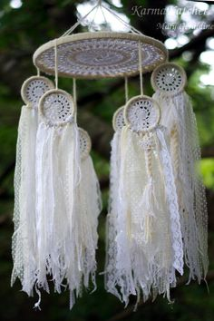 Vintage doily bohemian dreamcatcher inspired baby by KarmaKatchers