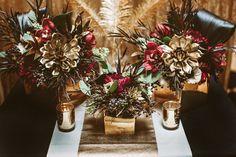 dramatic wedding ideas - photo by Hazelwood Photo http://ruffledblog.com/black-and-gold-new-years-eve-wedding